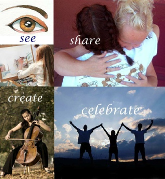 See Share Create Celebrate Collage